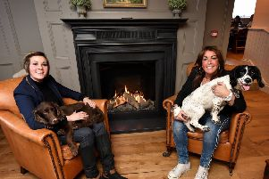 The Farrier - family owners Dani Bushby with mum Suzie Bushby and their dogs in the lounge area