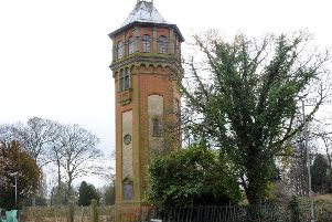 The water tower on Heapham Road, Gainsborough.