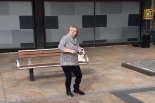 Do you know who this mystery lady is who brought a ray of sunshine to Burnley town centre when she broke into an impromptu dance routine?