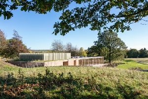 Yorkshire Sculpture Park's new visitor centre will open to the public this weekend. Courtesy of YSP. Photo  Mike Dinsdale, courtesy William Birch.