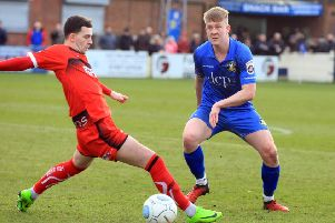 Tom Davie, who is back at Gainsborough Trinity after being released last season.