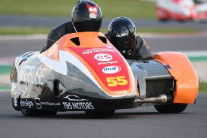 The Staintons in action at Donington Park. (PHOTO BY: Sid Diggins)