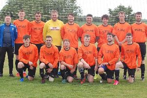 The current Scotter United team who were crowned league champions.