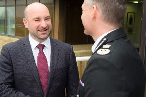 Marc Jones (left), Lincolnshire's police and crime commissioner, with Chief Constable Bill Skelly.