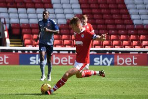 Will Smith in action for Barnsley under-23s.