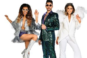 Melody Thornton, Louis Smith and Rachel Stevens in Rip It Up The 70s.