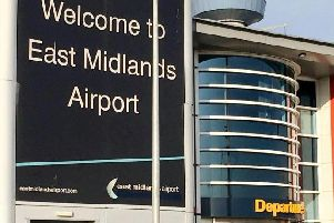East Midlands Airport. SWNS