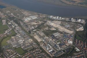 Residents reported hearing a 'loud bang' from the former ICI site in Thornton this morning (July 12) Credit: Skycam Aerial Photography