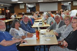 One of the tables at the fundraising quiz night at The Blues Club.