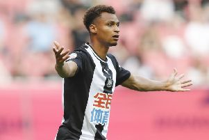 SHANGHAI, CHINA - JULY 20:  Jacob Murphy of Newcastle United in action during Newcastle United v West Ham United - Premier League Asia Trophy: 3rd/4th Playoff on July 20, 2019 in Shanghai, China. (Photo by Fred Lee/Getty Images for Premier League)