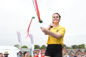 Blackpool Circus School will have some of its stilt-walking experts at Fleetwood's Memorial Park this Saturday