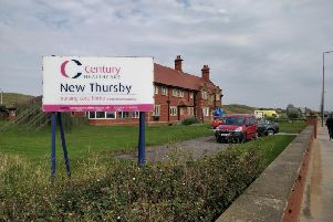 Emergency services at the care home in the hours after the alleged attack