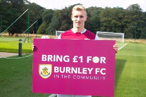 Burnley FC captain Ben Mee showing his support for the Community Day campaign.