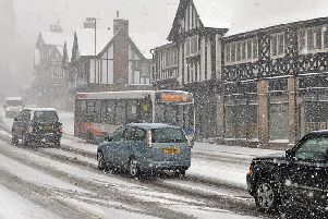 The Beast from the East in Chesterfield last year.
