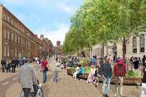 Leeds City Council's artist impression of changes to Cookridge Street.