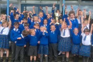 Chipping St Mary's RC primary school pupils celebrate their success