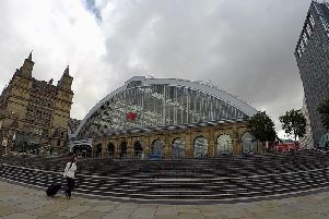 Lime Street Station in Liverpool