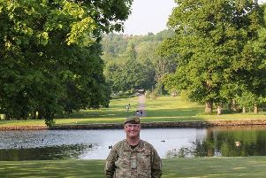 Billy in the grounds of Townley Hall (Burnley) after receiving his Lord Lieutenants of Lancashire Award for Meritorious Service
