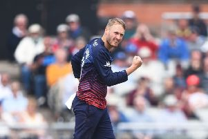 Matt Parkinson in action during the One-Day Cup match between Lancashire and Northamptonshire in April. Picture: Nathan Stirk/Getty Images