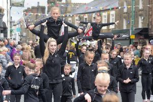 Members of Garstang Gymnastics Centre taking part in this year's Garstang Children's Festival parade