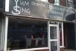 The Yum Sing restaurant was infested with mouse droppings