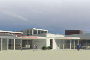 Artist's impression of how the new clubhouse will look (by DC & MG Associates).