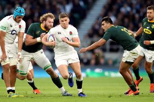 England's Owen Farrell on the charge CREDIT: Andrew Matthews/PA Wire