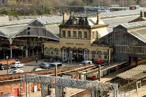 Preston Railway Station where a man had to be rescued from the track