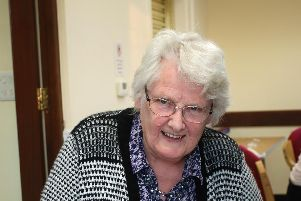 Anne Curwen pictured at a recent book signing