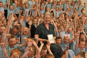 Janis Burdin received a Lifetime Achievement Award  after making history as the first and longest serving head at Moss Side Primary School in Leyland