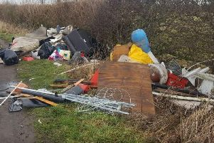 Large piles of what looks like household waste have been dumped in Leeds. PIC: West Yorkshire Police