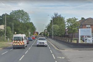 The A6 Bolton Road where the collision happened.