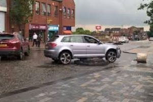 Another car comes to grief on the Fishergate Bollard