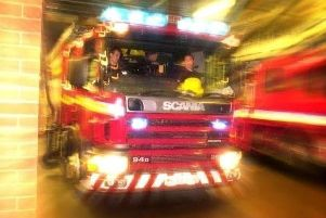 Firefighters and police attended a suspected arson attack.