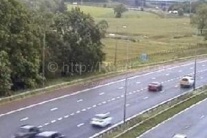 Lane closures are in place after a crash on the M55 eastbound exit slip at junction 1 at Broughton Roundabout (May 30)