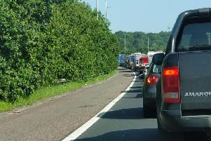 There is severe congestion on the M6 northbound at Preston after a multi-vehicle crash this morning (June 28)