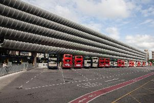 32 buses line up ready to bust some moves.(Pcture by ashleyhardmanphoto.com)