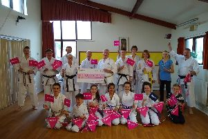 Members of the Shotokan KUGBKarate Club celebrate their National Lottery grand award