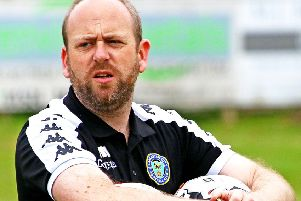 Lancaster City FC manager Mark Fell. Picture: Tony North