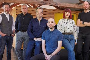 New era: The senior management team at Thompson Brand Partners in Leeds has acquired the business through a MBO.