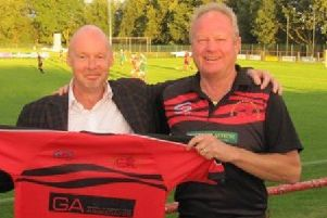 Graham Salisbury and Garstang chairman Adrian Wilding