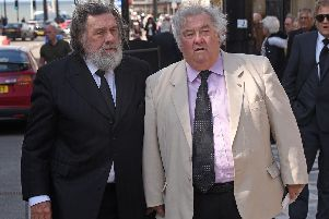 Actors Ricky Tomlinson and Tony Barton