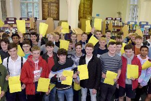 Photo: David Hurst Lancaster Royal Grammar School GCSE results success