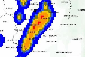 Forecasters have predicted heavy thunderstorms and showers this afternoon.