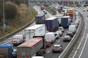 The crash has happened on the M62