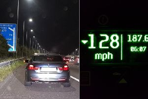 Speeding drivers caught on the M62 PIctures by PC Martin Willis