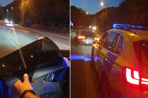 The heavily tinted windows on the Audi car (picture @WYP_TrafficDave)