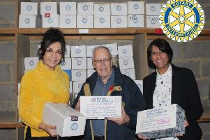 CEO of VAC Dipika Kaushal with appeal co-ordinator Bryan Harkness and VACs Maggie Opacic during last years appeal.