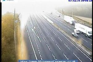 Junction 28 of M1 southbound
