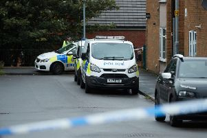 Officers at the scene in the Love Lane Terrace are of Pontefract.